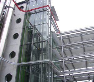 Aufzugstürme Parkhäuser Flughafen Stuttgart gebo-Punkthalter AK C 46/70 T5 3