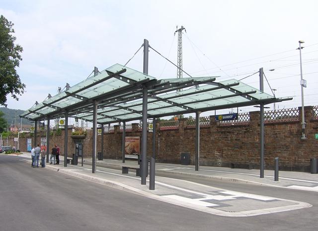 Bahnhofsvorplatz Andernach-gebo-Punkthalter-AK-A-70-V-