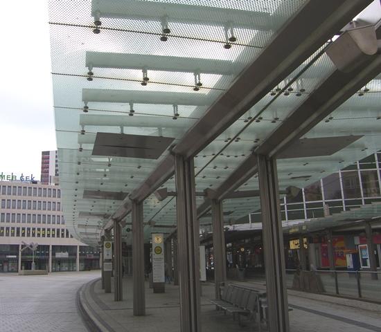 Berliner Platz Ludwigshafen gebo-Punkthalter AK A 70