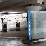 Parkhauskassenbereich Flughafen Stuttgart gebo AK C 36/60 kugelgelagerte Senkhalter  1