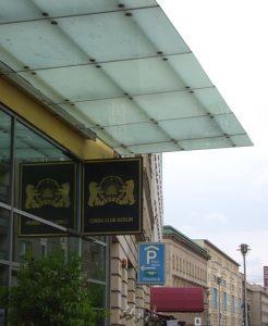 Glasvordach Hotel Adlon mit gebo AK A 70